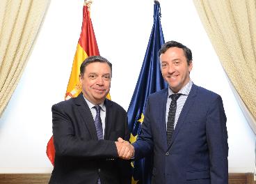 Luis Planas (Mapama) y Ricardo Dominguez (PCO)