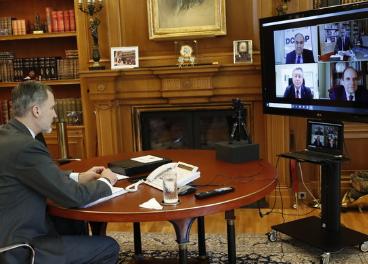 Videoconferencia sector aceite de oliva con el Rey Felipe VI