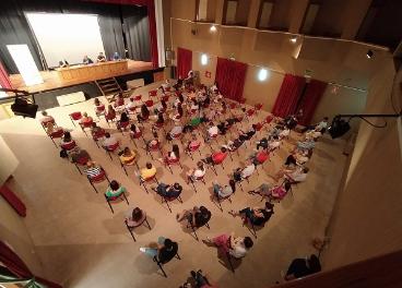 Reunión en el Ayuntamiento de Mora.