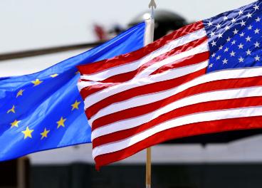 Banderas EEUU - UE
