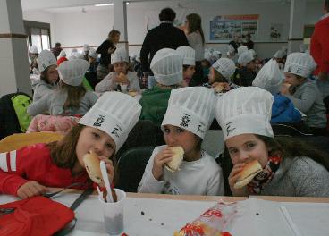 Desayunos saludables en colegios.