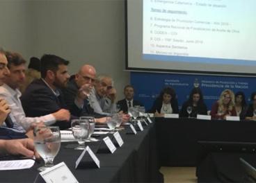 Reunión de la Mesa Nacional de la Cadena del Olivo.