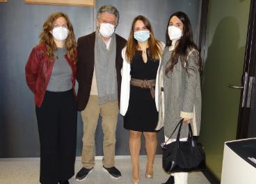 Algunos miembros del equipo de investigación: Blanca Mª Rueda-Medina, Norberto Ortego-Centeno, Gabriela Pocovi-Gerardino y María Correa-Rodríguez.