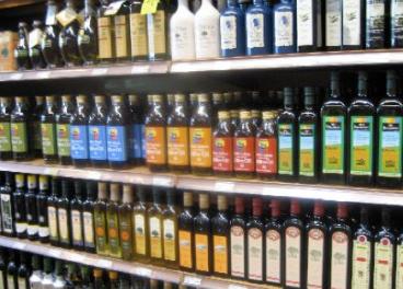Aceite de oliva en el lineal de EE.UU