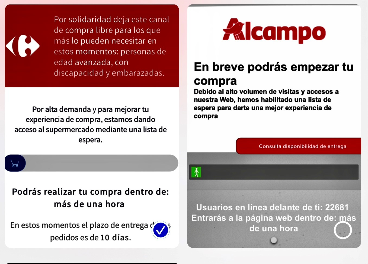 Web de Alcampo compra on-line