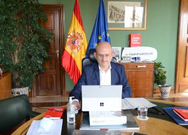 José Miguel Herrero durante la presentación de la campaña.