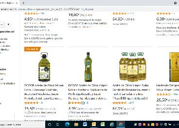 Imagen web Amazon aceite de oliva