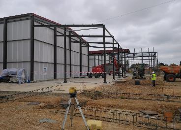 Construcción almazara en Portugal