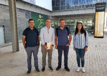 Participantes en el proyecto por parte de la UJA y el IPB de Portugal Jose Alberto Pereira, Ruperto Bermejo, Nuno Rodrigues y María del Carmen Murillo